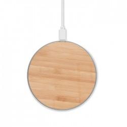 Chargeur sans fil en bambou