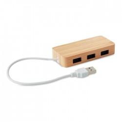 Hub USB 3 ports Bambou